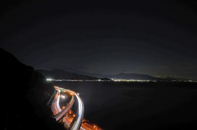 富士市・静岡市をウロウロ… 2017.01.17 =5.さった峠での夜景=