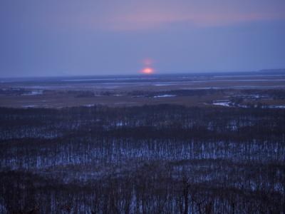 今年初めてのスノーシューは釧路湿原から
