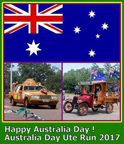 安い、近い、短い旅の記録 No.34   今年は運よくお休みの「Australia Day」。そこで「Ute Run」を見に行ってきました。