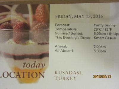 C.19.BarcelonaからVeniceまでの24日間の船旅★19.Fri May 13 Ephesus / Kusadasi, Turkey