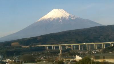 行きも帰りも富士山の絶景