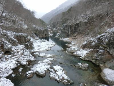 冬の湯西川温泉・その1.龍王峡スノープチハイク。