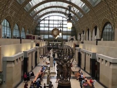 16泊18日ベルギー・オランダ・フランス周遊個人旅行(12)パリで、念願のオルセー美術館