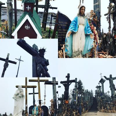 2017.01-02・冬のバルト三国&フィンランド13日間の旅【4】~リトアニアの巡礼の地シャウレイの十字架の丘での珍道中~