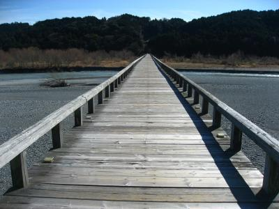 '17 静岡100名城さんぽ4 島田駅で途中下車。世界一長い歩道橋の蓬莱橋