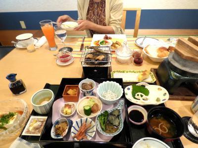 22.ホテルのディナーバイキングを楽しむお盆休みの紀伊半島3泊 南紀串本ロイヤルホテル 日本料理 熊野灘の朝食