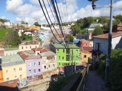 サンティアゴからバスでバルパライソ