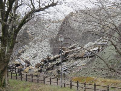 一昨日の熊本城直視写真(熊本県へ復興割引ツアーで)
