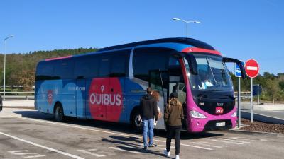安くて快適なバス移動!Ouibus