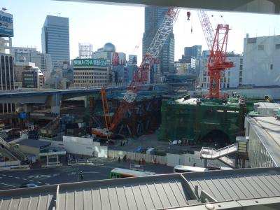 渋谷駅前の工事風景。