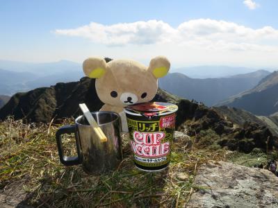 魔の山に行くクマ。谷川岳オキの耳から降りるクマ。
