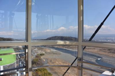 オープンしてまもない東名高速道路富士川SAの観覧車に乗って来ました 2017.02.27