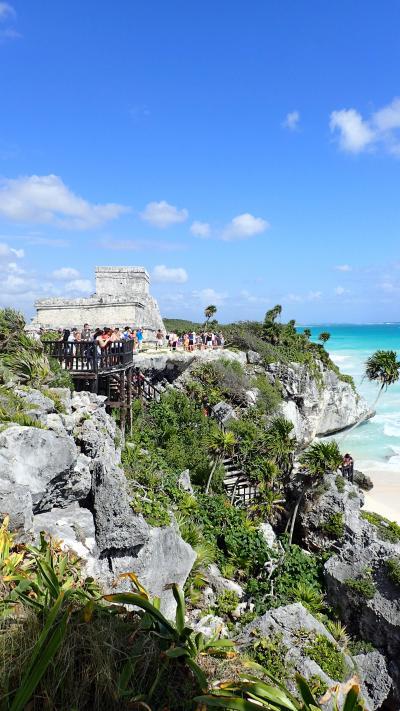 今年の初潜りはメキシコ・コスメル島、そして夢のセノーテで!!(プラヤ・デル・カルメン到着・ツゥルム遺跡・コパ遺跡観光編)