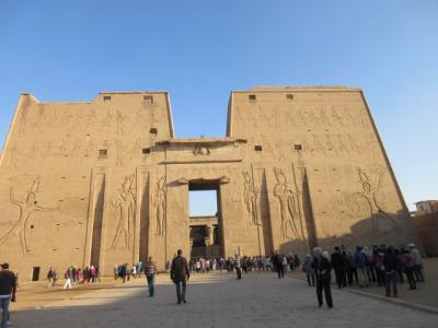 行って良かったエジプト夢紀行(5)エドフ~コムオンポ~アスワン をクルーズ ホルス神殿、コムオンボ神殿 を見学