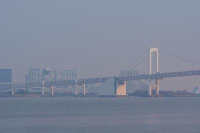徒歩でレインボーブリッジと東京湾クルージング