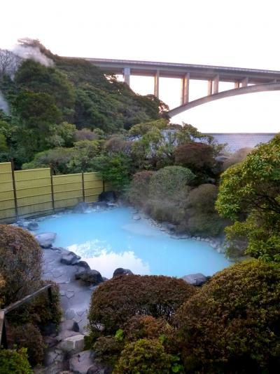 青磁色の湯 別府明礬温泉「岡本屋旅館」に宿泊