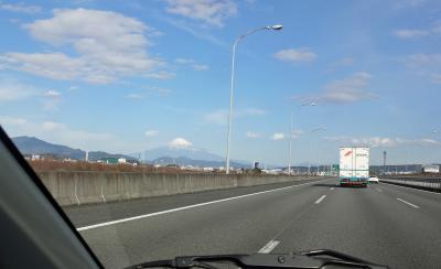 富士を見ながら山梨塩山へ(その1) 出発時、天気予報は曇り空