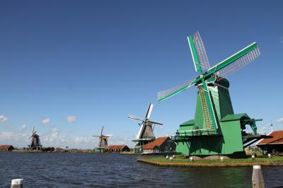 チューリップが満開のオランダ・ベルギーへ ⑦ ( ザーンセ・スカンス、アムステルダム)