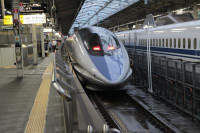 余生を送る新幹線500系、各駅停車のこだまで広島まで。宿泊はJR西グループのヴィアイン広島。