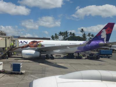 初めてのハワイ アウラニ・ディズニー・ホテル&スパ4泊 復路ラウンジ&機内編 手荷物検査の注意点など