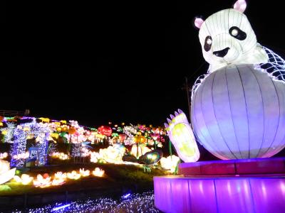 春の優雅な伊豆♪ Vol.17(第2日目) ☆伊豆高原:「グランイルミ」愛嬌のある巨大パンダ♪