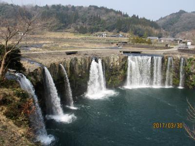 大分・豊後大野の原尻の滝・沈堕の滝