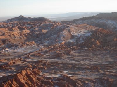チリ 「行った所・見た所」 アタカマの月の谷(アタカマ砂漠)へ、夕日も見ました