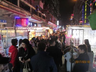 武漢の保定路・夜市