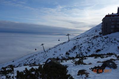 スロバキア スキーと山岳観光に適した  街。  ポプラドタトリ。コッシェ の街まで電車で1時間