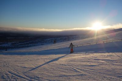 ユッラス山での絶景スキー