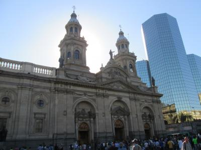 チリ 「行った所・見た所」 サンチアゴの旧市街アルマス広場散策とホリデイインエアポート宿泊