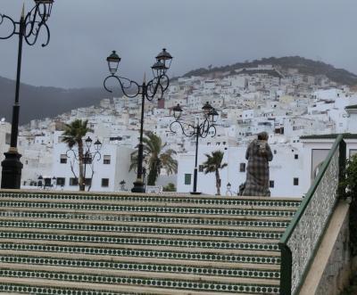 モロッコ添乗員付ツアー⑥ 暴風雨の白い街ティトゥアンから快晴の首都ラバトへ
