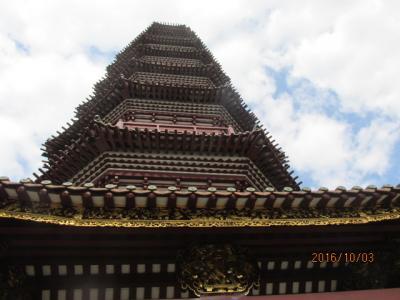 モラエスの故地を訪ねて(99)広州「六榕寺」の九重の塔と本殿・祖師堂。