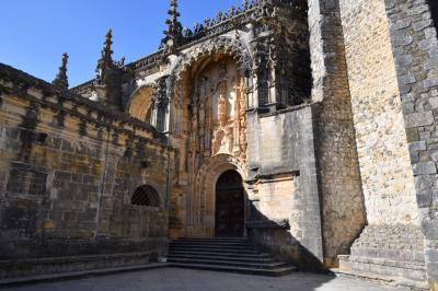 ユーラシア大陸最西端の国ポルトガルと初めに少し2回目のスペイン1人旅 その13:トマール編 世界遺産,さまざまな建築様式が融合したポルトガル最大規模の美しい修道院