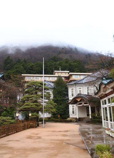 富士屋ホテル ☆ 本館テラス(4月7日)