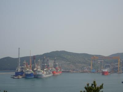 巨済島 玉浦から造船所を眺めよう