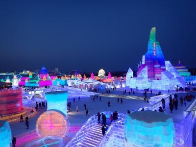 中国ハルピン氷雪大世界  1泊2日