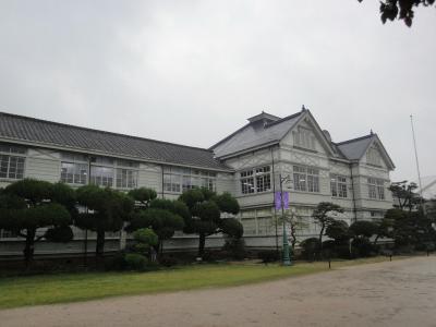 旧遷喬尋常小学校(久世)と湯葉昼食、大人カフェで癒やしの一日