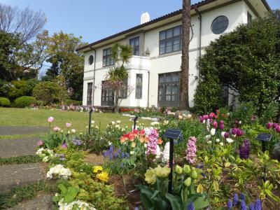 春爛漫の優雅な横浜♪ Vol15 ☆港の見える丘公園:山手111番館の美しい庭園♪