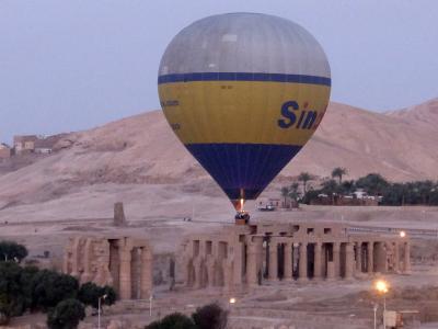 エジプト2017・・・(5)ルクソール 西岸上空を熱気球でフワフワと