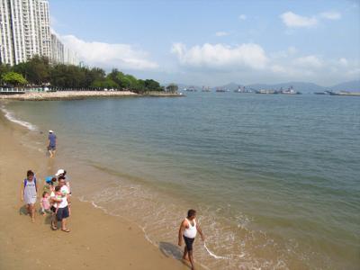 香港★買い物ついでに蝴蝶灣で海を見ながらまったり