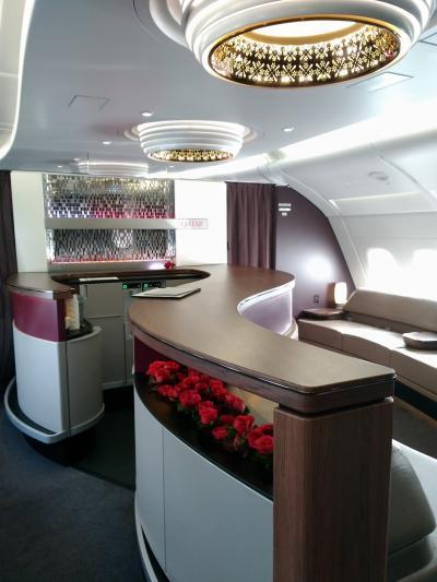 カタール航空ドーハ ロンドン QR003 ビジネスクラス搭乗記
