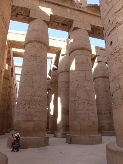 エジプト2017・・・(7)ルクソール・カルナック神殿 圧倒的な存在感の大列柱室