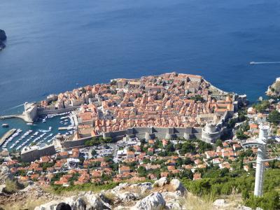 スルジ山からの眺めは最高!~16年夏クロアチアなど4カ国周遊8月12日その1ドブロブニク