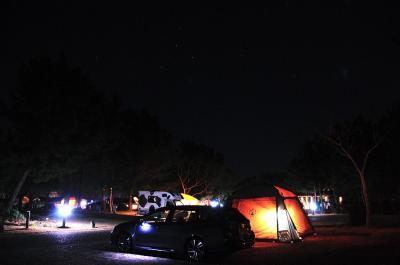 2017年キャンプ始め(赤穂海浜公園牡蠣キャンプ)