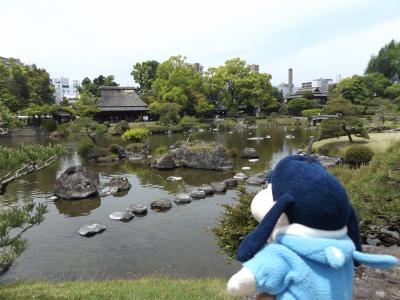 グーちゃん、熊本の復興視察へ行く!(水前寺公園の池にも被害が・・・。編)