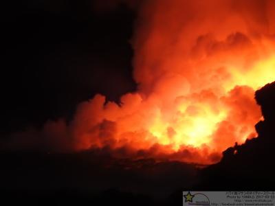 ハワイ5 キラウエア火山 溶岩とろとろツアー