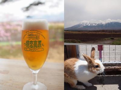 嬬恋高原ブルワリーでビール飲み比べ 浅間牧場茶屋でかわいいウサギに癒される旅