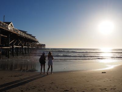 """北米西海岸のサンタモニカビーチとサンディエゴのパシフィックビーチを""""どうでしょう""""みたいにブラ歩きの旅。その3; サンタモニカからサンディエゴへ・・・列車(AmtrakのPacific Surf Liner)でGO!のはずが・・・運転休止 (Canceledだって!!!)?"""