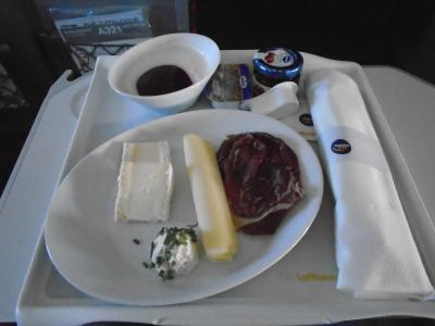 LH940(FRA-MAN)ビジネスクラス機内食
